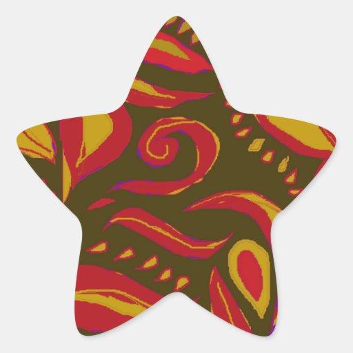 A beautiful design star sticker