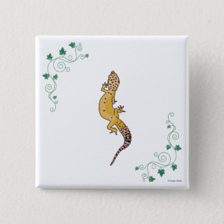 A Beautiful Gecko 15 Cm Square Badge
