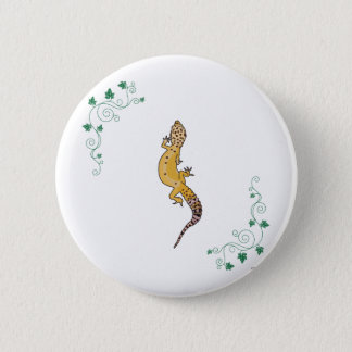 A Beautiful Gecko 6 Cm Round Badge