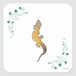 A Beautiful Gecko Square Sticker