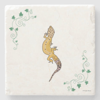 A Beautiful Gecko Stone Coaster