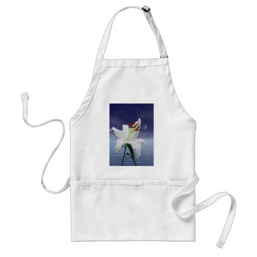 A beautiful lily in the moonlight apron