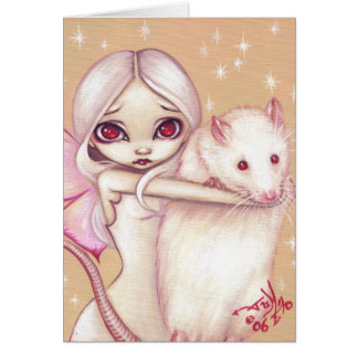"""A Beautiful Rat"" Greeting Card"