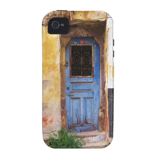 A beautiful rustic old blue door in CRETE, Greece iPhone 4/4S Covers
