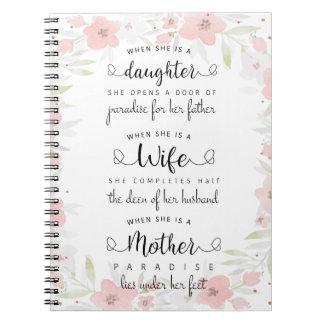 A beautiful saying notebook! notebooks