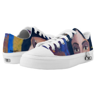 A beautiful Sneaker with original painting print
