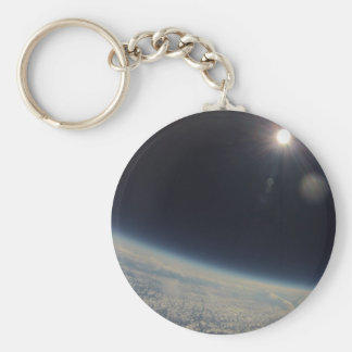 A beautiful sunrise from Up above Basic Round Button Key Ring