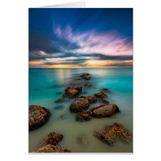 A Beautiful Sunset Over Grace Bay | Turks & Caicos Card