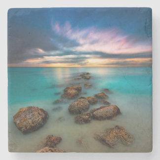 A Beautiful Sunset Over Grace Bay   Turks & Caicos Stone Coaster