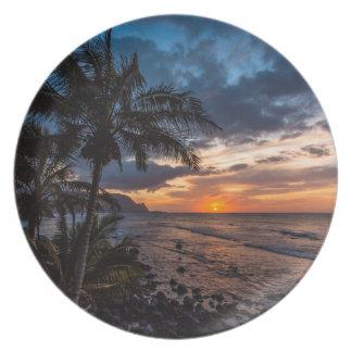A beautiful sunset plate