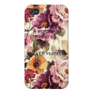 """A Beautiful Thing is NEVER Perfect"" Iphone 4 Case"