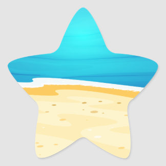 A beautiful view of the beach star sticker
