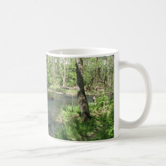 A Beautiful View of the River Basic White Mug