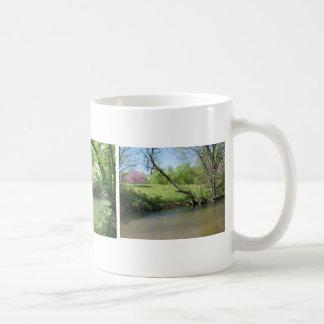 A Beautiful View of the River Basic White Mug