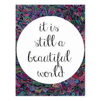 A Beautiful World Postcard