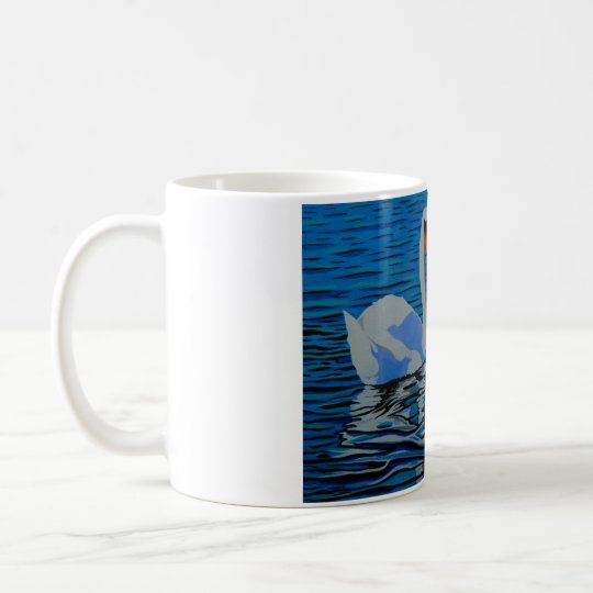 A beautifully designed swan mug, a unique gift.