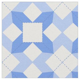 A Beauty Patchwork Design in Cornflower Blue Fabric