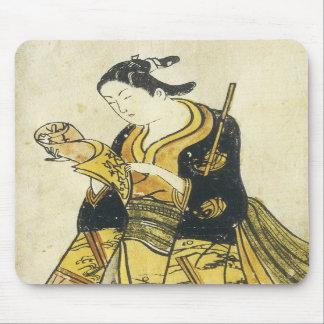 A Beauty Reading, Early Toru School, 1730 Mousepad