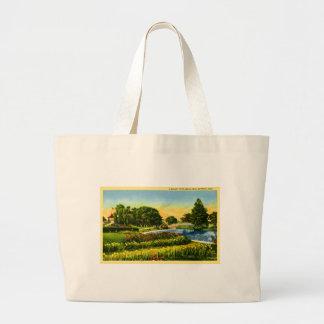 A Beauty Spot Belle Isle, Detroit, Michigan Canvas Bags