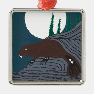 A Beavers Legend Silver-Colored Square Decoration