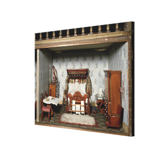 A bedroom in 'Mrs Bryant's Pleasure', c.1860 Gallery Wrap Canvas
