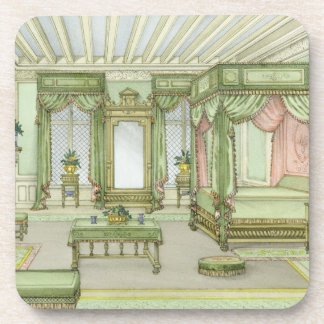 A Bedroom interior in Henri II style (colour litho Drink Coasters