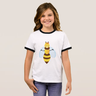 a bee design t-shirts