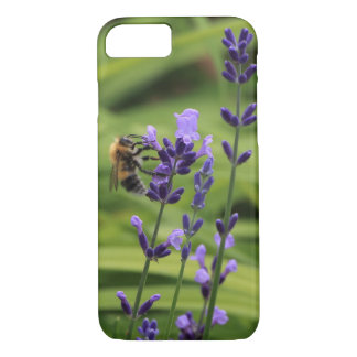 A bee on lavender flower iPhone 7 case