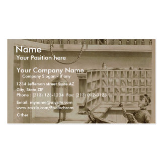 A Bell Boy, 'Use of Fire escape' Retro Theater Pack Of Standard Business Cards