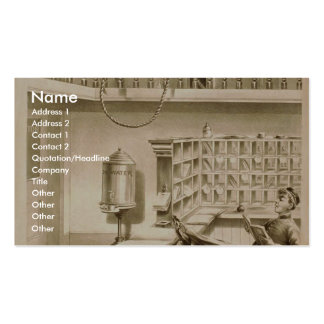 A Bell Boy, 'Use of Fire escape' Retro Theatre Business Card Template