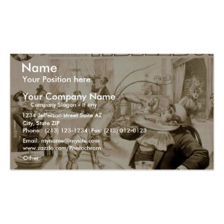A Bell Boy Who s a Lobster Retro Theater Business Card Templates