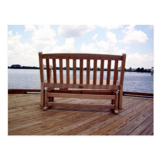 A Bench on the Dock Postcard
