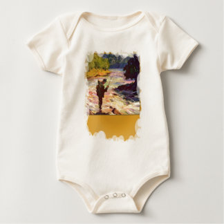 A bend in the river baby bodysuit