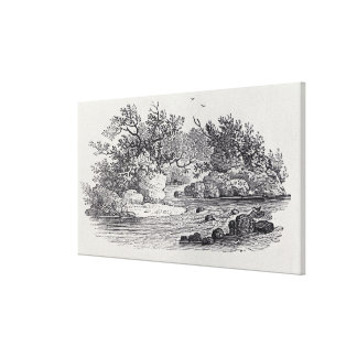 A Bend in the River from 'History of British Canvas Print