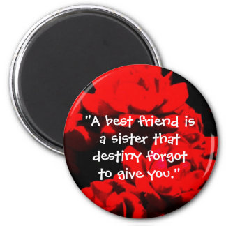 """A best friend is a sister"" Magnet"