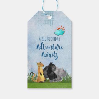 A Big Birthday Adventure Awaits Whimsical Animals Gift Tags