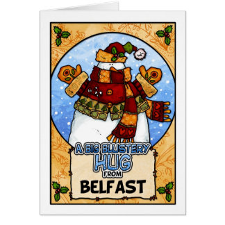 A Big Blustery Hug from Belfast Card