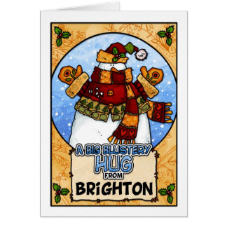 A Big Blustery Hug from Brighton Greeting Card