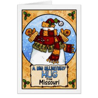 A Big Blustery Hug from Missouri Card