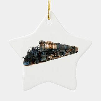 A Big Boy Steam Locomotive Christmas Ornament