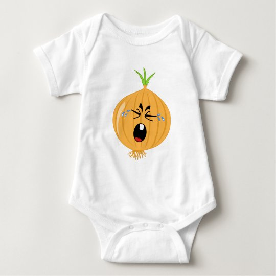 A Big Crying Onion Baby Bodysuit