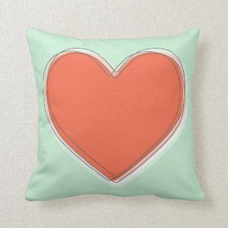 A Big Heart Throw Pillow