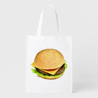A Big Juicy Cheeseburger on a Seasame Seed Bun