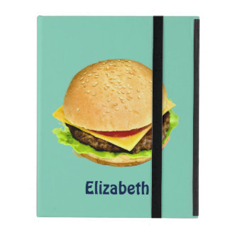 A Big Juicy Cheeseburger Photo Personalized iPad Cover