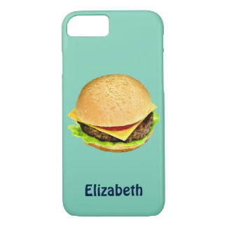 A Big Juicy Cheeseburger Photo Personalized iPhone 7 Case