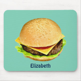 A Big Juicy Cheeseburger Photo Personalized Mouse Pad