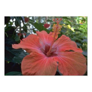 A Big Pink Flower 13 Cm X 18 Cm Invitation Card