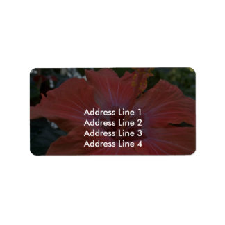 A Big Pink Flower Address Label