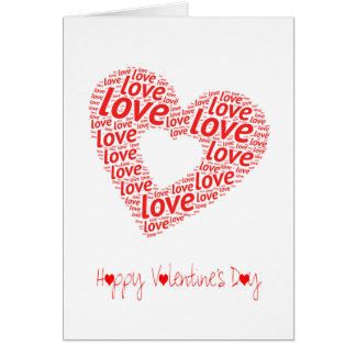 A Big Red Love Heart | Valentines Day Card