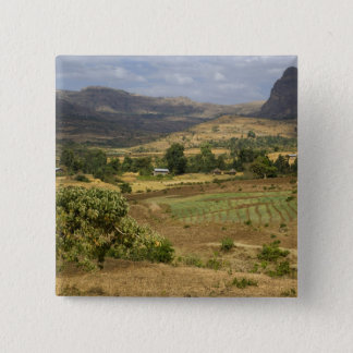 A big scenic view of a big rock mountain 15 cm square badge